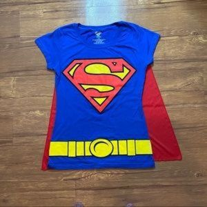 Supergirl Tee Shirt With Red cape, Super heroes